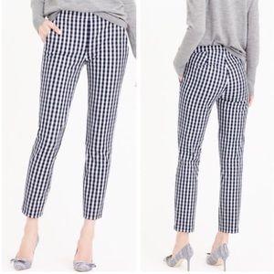 J.Crew blue checkered Martie pants